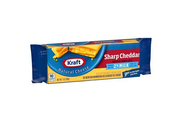 Kraft Natural 2% Milk Sharp Cheddar Cheese - 7Oz