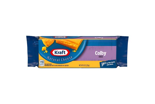 Kraft Colby Natural Cheese Block 8 Oz Vacuum Packed
