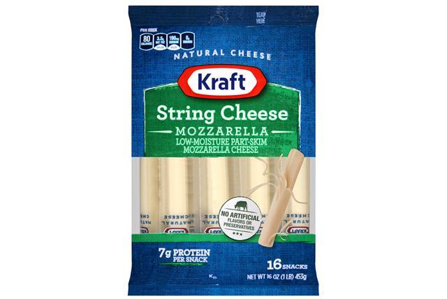 Kraft Mozzarella Natural String Cheese Sticks 16 Oz Bag (16 Sticks)