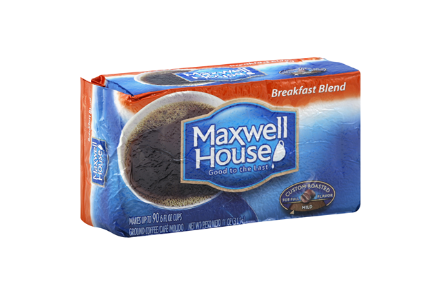 Maxwell House Breakfast Blend Ground Coffee 11 oz. Brick