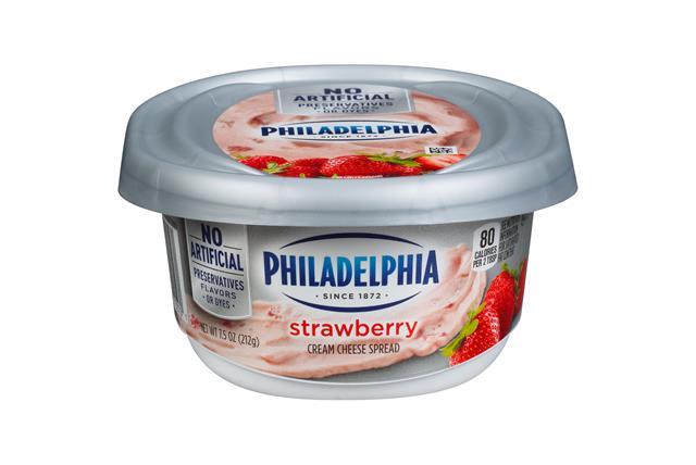 Philadelphia Strawberry Cream Cheese Spread 7.5 Oz. Tub
