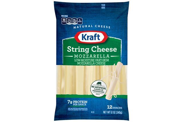 Kraft Mozzarella Natural Cheese Sticks 12 Oz Bag (12 Sticks)