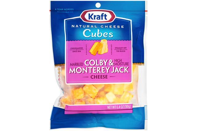 Kraft Colby & Monterey Jack Natural Cheese Cubes  6.4Oz Bag