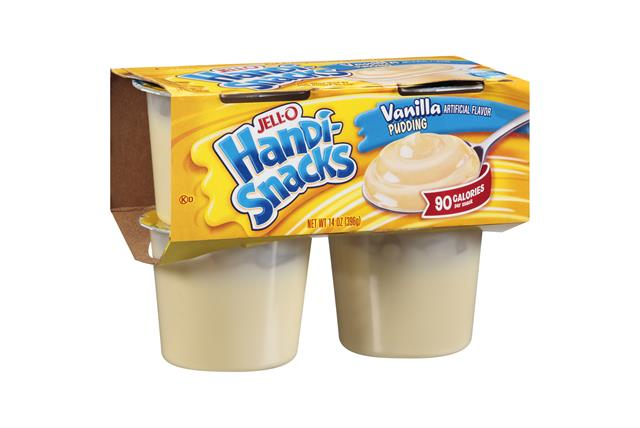 Jell-O Handi-Snacks Vanilla Pudding 4 Ct Cups
