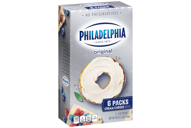 Kraft Philadelphia Original Cream Cheese 6-8 Oz. Packs