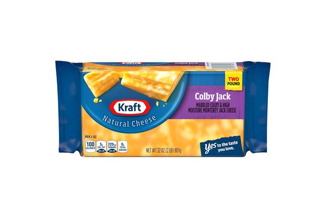 Kraft Colby & Monterey Jack Natural Cheese Block 2 Lb Vacuum Packed