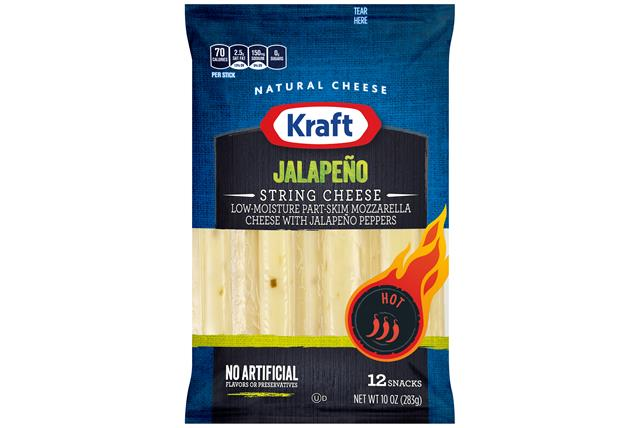 Kraft Jalapeno String Cheese 10 Oz (12 Count)
