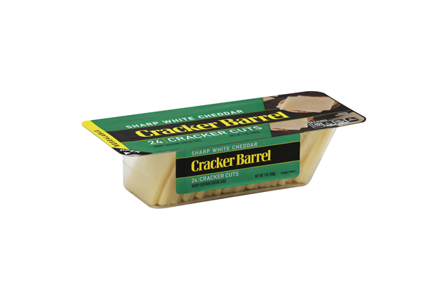Cracker Barrel Sharp White Cheddar Cheese Cracker Cuts 24 Ct Tray