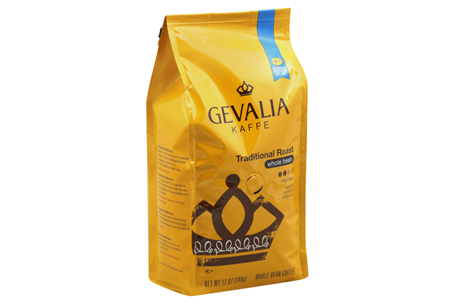 Gevalia Traditional Roast Whole Bean Coffee 12 oz. Bag