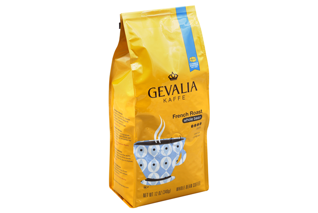 Gevalia French Roast Whole Bean Coffee 12 oz. Bag