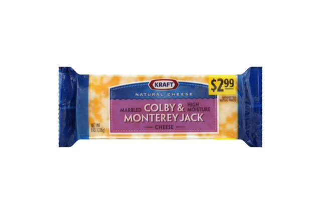 Kraft Natural Cheese Colby & Monterey Jack Cheese 8 Oz. Chunk