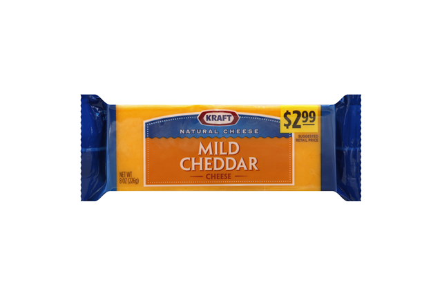 Kraft Natural Cheese Mild Cheddar Cheese 8 Oz. Chunk