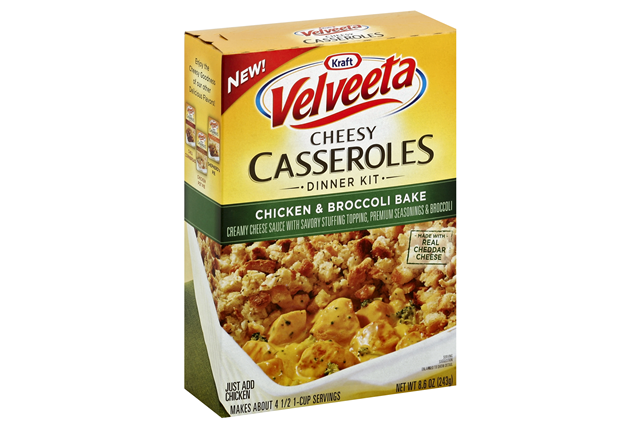 Kraft Velveeta Cheesy Casseroles Chicken & Broccoli Bake Dinner Kit 8.6 oz. Box