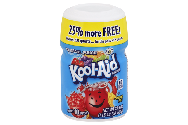 Kool-Aid Tropical Punch Drink Mix 23.9 oz. Canister