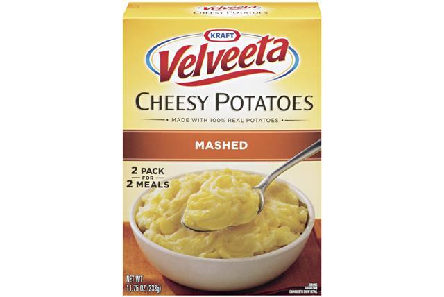 Kraft Dinners Cheesy Au Gratin Potatoes Velveeta 11.75 Oz Box