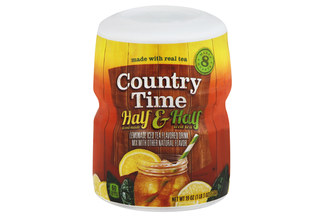 COUNTRY TIME Half Lemonade and Half Iced Tea Powdered Soft Drink 19 oz. Cannister