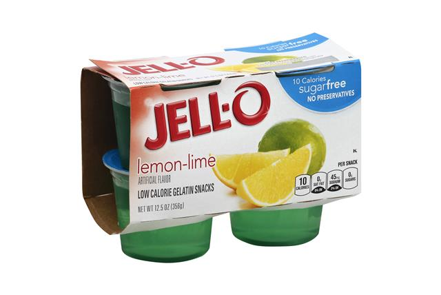 Jell-O Gelatin Ready To Eat Lemon Lime Sugar Free 4 Ct Cups