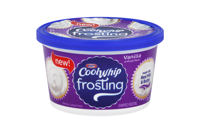 Kraft Cool Whip Vanilla Whipped Frosting 10.6 oz. Tub