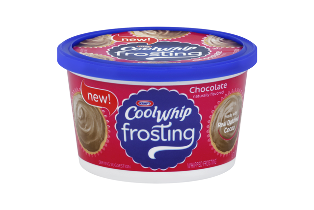 Kraft Cool Whip Chocolate Whipped Frosting 10.6 oz. Tub