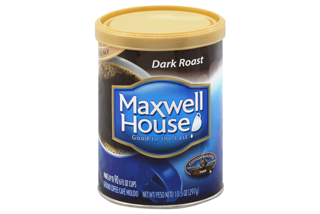 Maxwell House Dark Roast Ground Coffee 10.5 oz. Canister
