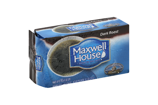 Maxwell House Dark Roast Ground Coffee 10.5 oz. Brick