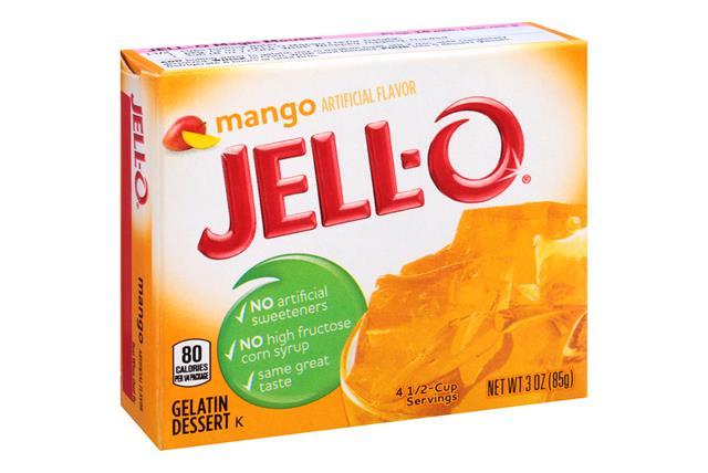Jell-O Gelatin Mango 3 0Z Box