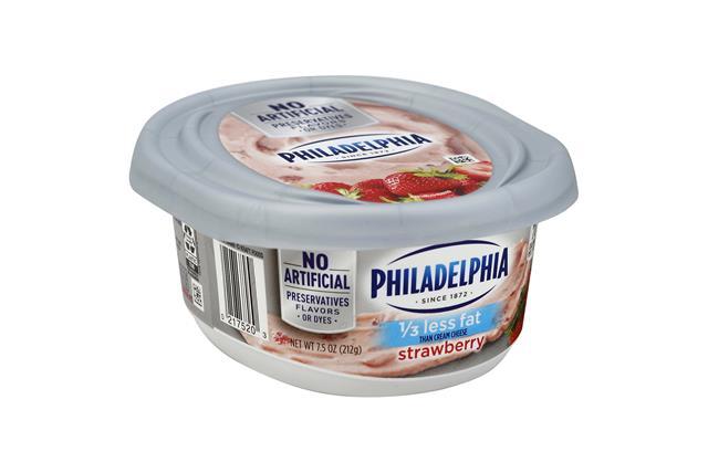 Philadelphia 1/3 Less Fat Strawberry Cream Cheese Spread 8 Oz. Tub