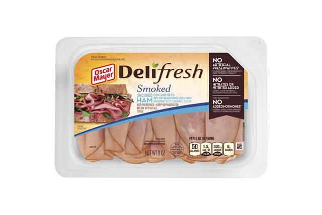 Oscar Mayer Deli Fresh Uncured Smoked Ham 9Oz