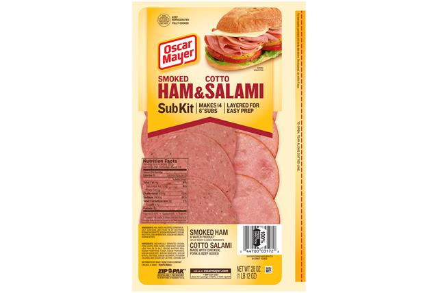 Oscar Mayer Sliced Ham & Salami Subkit 28Oz Pack