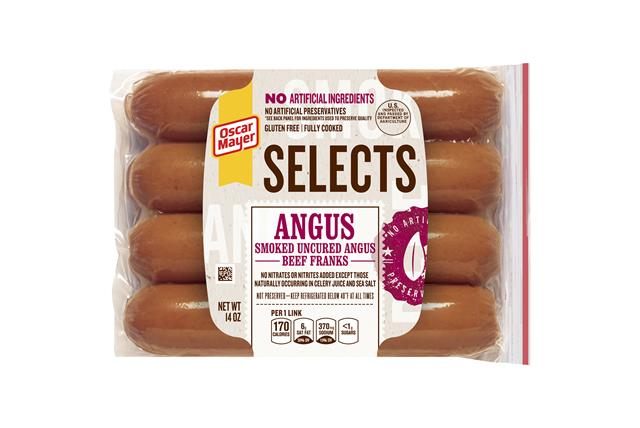 Oscar Mayer Selects Angus Beef Franks 14Oz Pack
