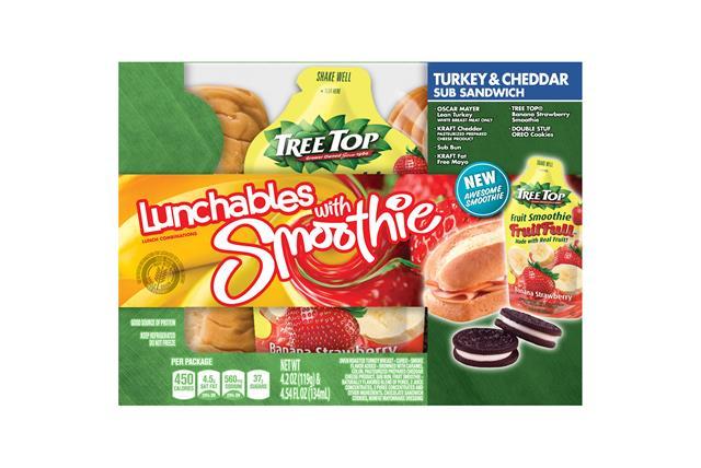 Oscar Mayer Lunchables Turkey & Cheddar Sub Sandwich Lunch Combination 4.2 Oz. Tray With Chiquita(R)