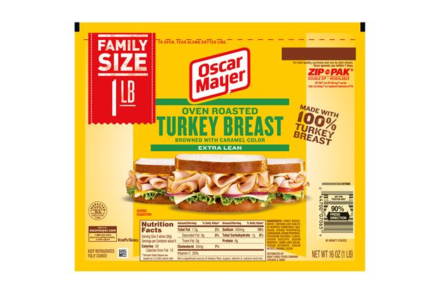 Oscar Mayer Oven Roasted Turkey Breast 16Oz Pack