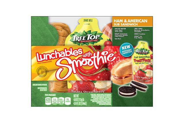 Oscar Mayer Lunchables Ham & American Sub Sandwich 4.0 Oz. Tray With Chiquita(R) Strawberry Banana S