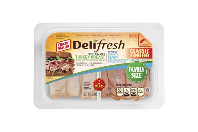 Oscar Mayer Deli Fresh Oven Roasted Turkey Breast And Smoked Ham 15Oz