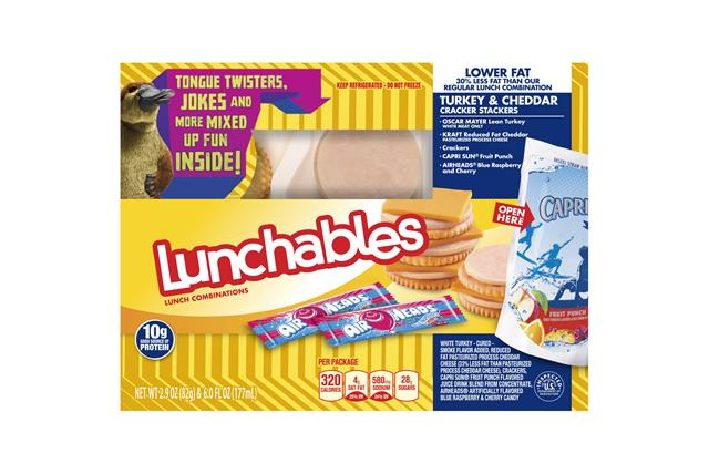 Lunchables Lower Fat Turkey &  Cheddar Cracker Stackers Lunch  Combination 2.9 Oz. Tray With  Capri