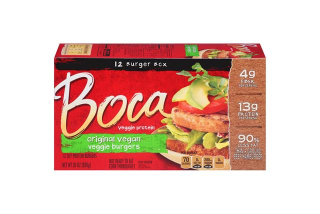Boca Original Burgers Vegan Veggie 12 Ct Box