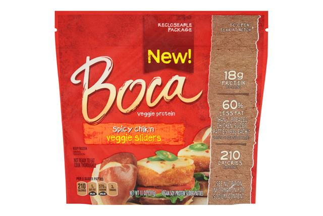 Boca Spicy Chik'n Vegan Sliders 11 Oz. Pouch