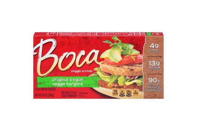 Boca Original Burgers Vegan 4 Ct Box