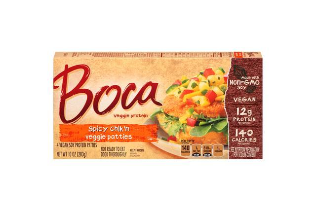 Boca Spicy Chik'n Vegan Patties 4 Ct Box