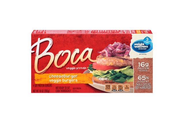 Boca Cheeseburger Veggie Burgers 4 Ct Box