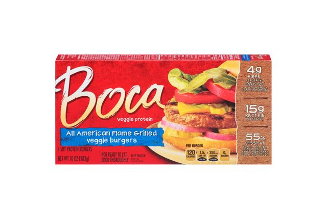 Boca All American Flame Grilled Burgers 4 Ct Box