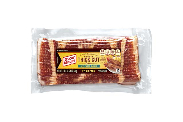Oscar Mayer Applewood Smoked Butcher Thick Cut Bacon 24oz