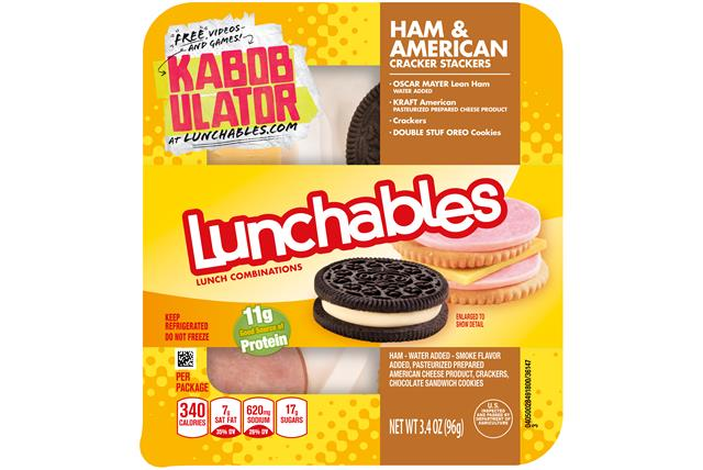 Lunchables Convenience Meals-Single Serve Ham And Cheese 3.4 Oz Tray