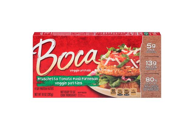 Boca Bruschetta Tomato Basil Parm Burgers 4 Ct Box