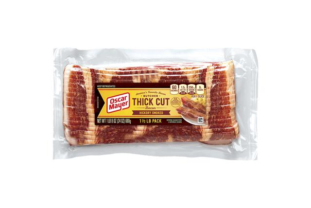 Oscar Mayer Butcher Thick Cut Hickory Smoked Bacon 24Oz Pack