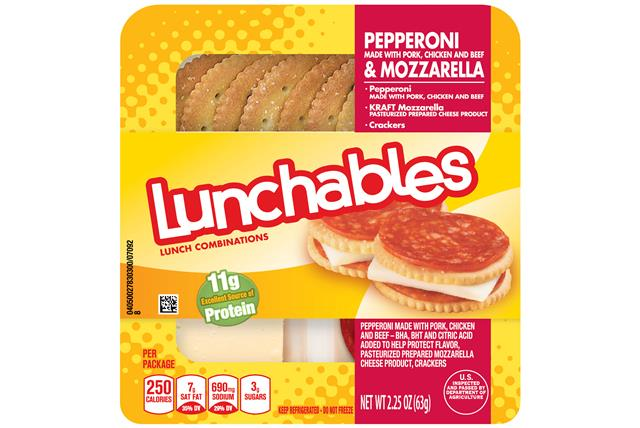 Lunchables Convenience Meals-Single Serve Pepperoni And Cheese 2.25 Oz Tray
