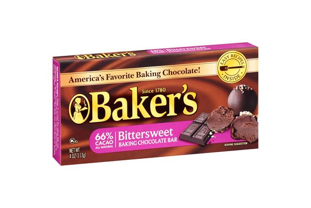 Baker's Bittersweet Chocolate Baking Squares 4 Oz. Box