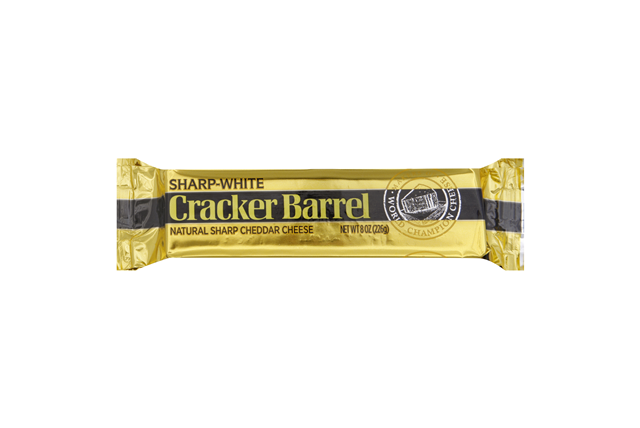 Cracker Barrel Sharp-White Cheddar Cheese 8 Oz. Chunk