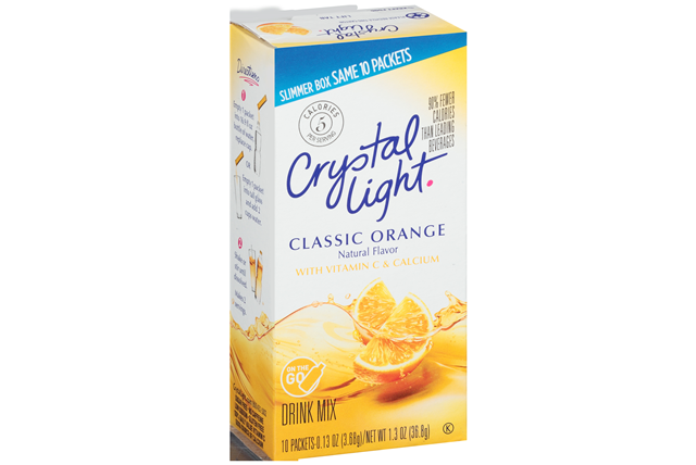 Crystal Light Classic Orange On The Go Drink Mix 10 0 13