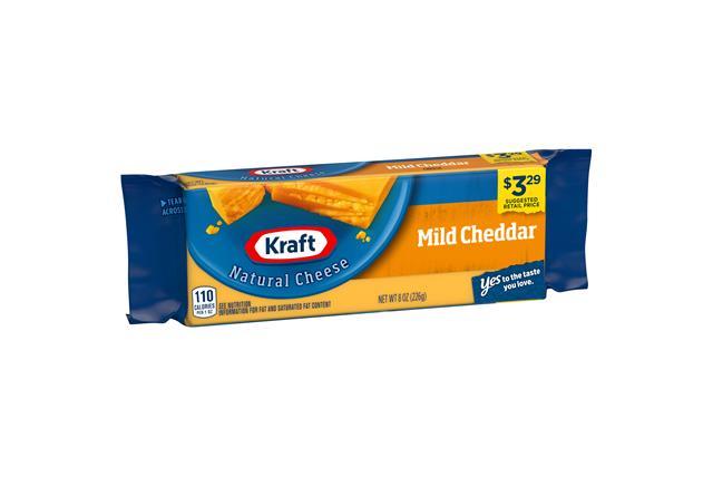 Kraft Natural Cheese Mild Cheddar Cheese 8 Oz. Brick